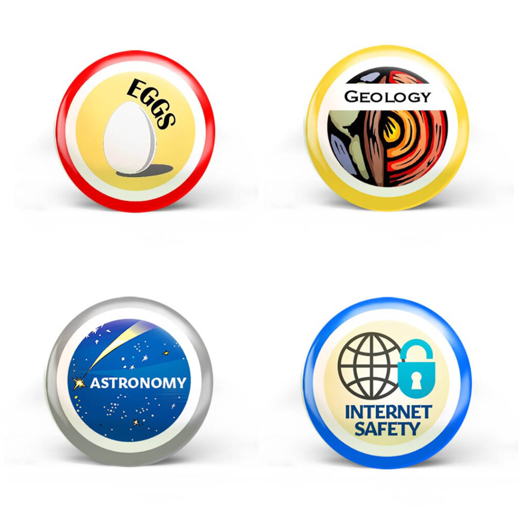If the image isn't working, you can find example badges on Curiosity Untamed's website.